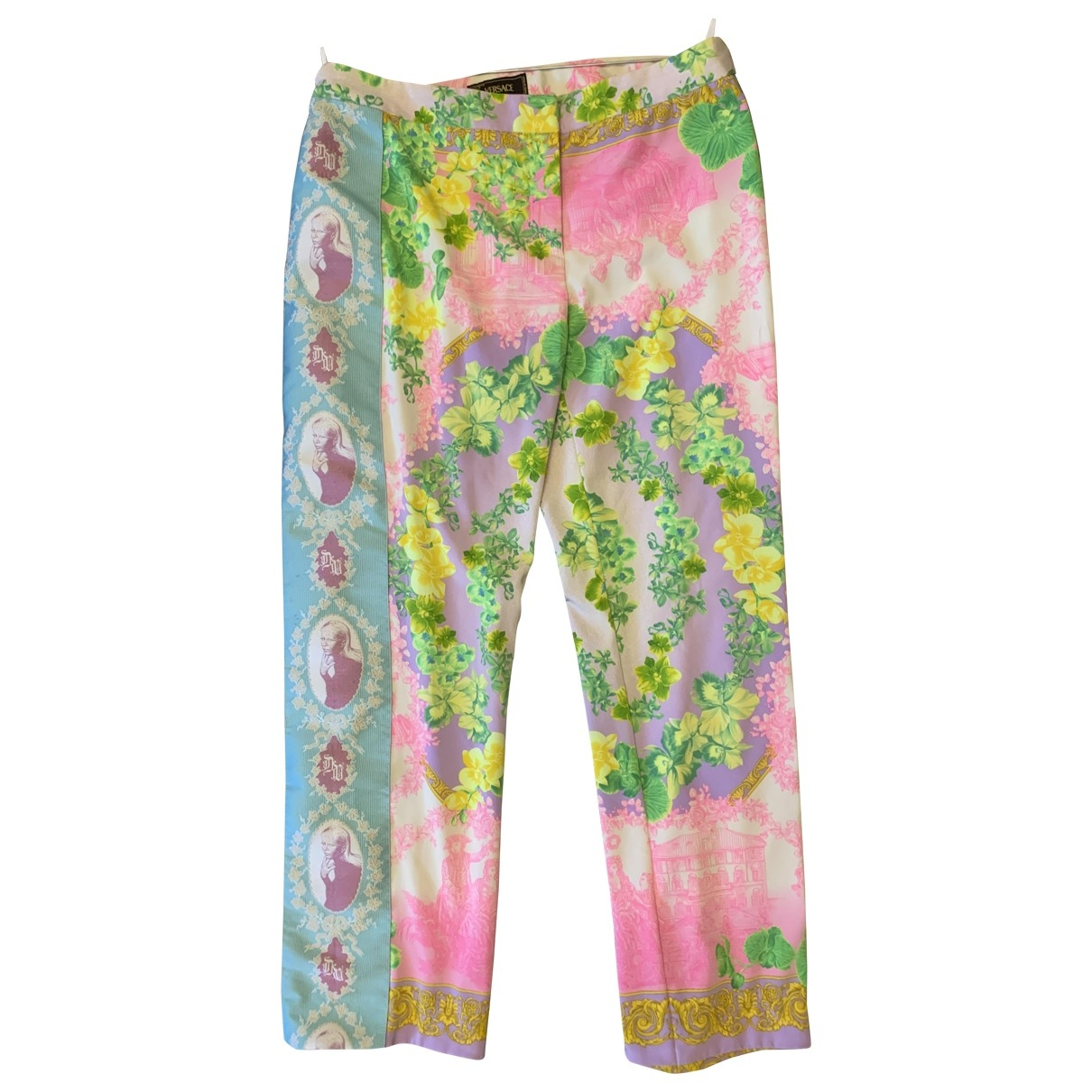 Versace \N Multicolour Trousers for Women 48 IT