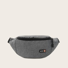 Letter Patch Fanny Pack