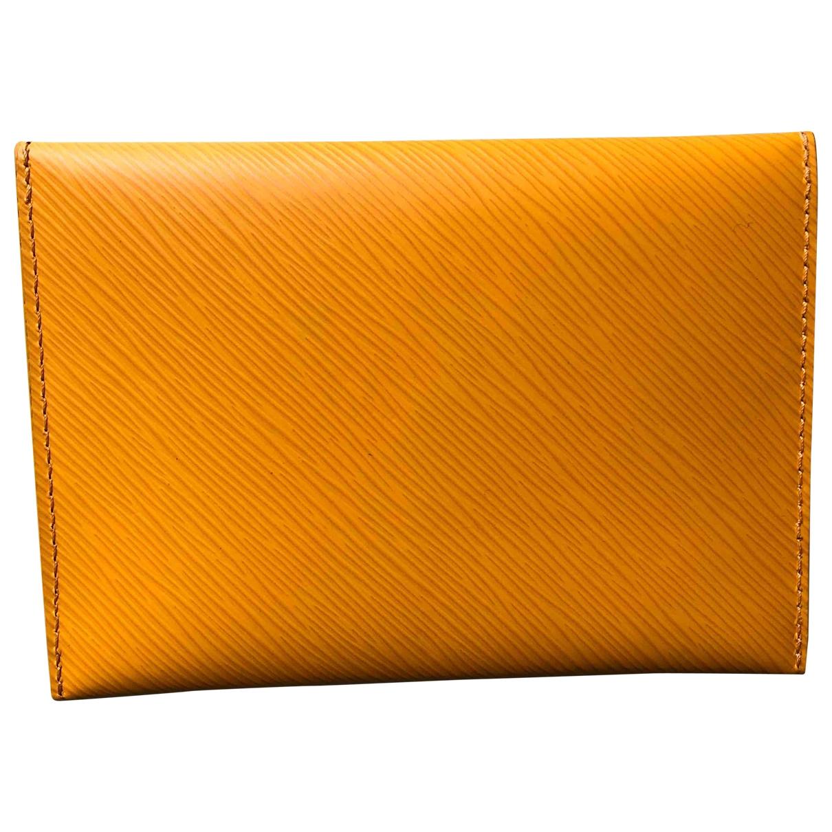 Louis Vuitton - Petite maroquinerie Kirigami pour femme en cuir - jaune