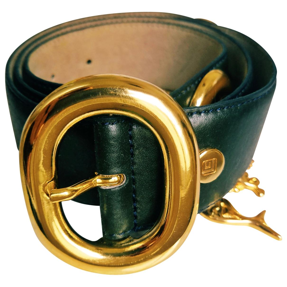 Guy Laroche \N Green Leather belt for Women 85 cm