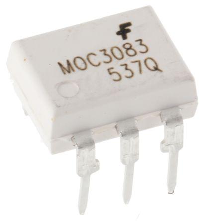 ON Semiconductor , MOC3083M DC Input Triac Output Optocoupler, Through Hole, 6-Pin DIP (5)