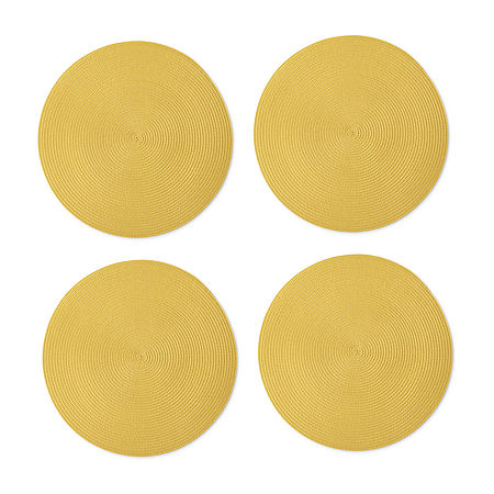 Homewear Carnegie 4-pc. Placemat, One Size , Yellow