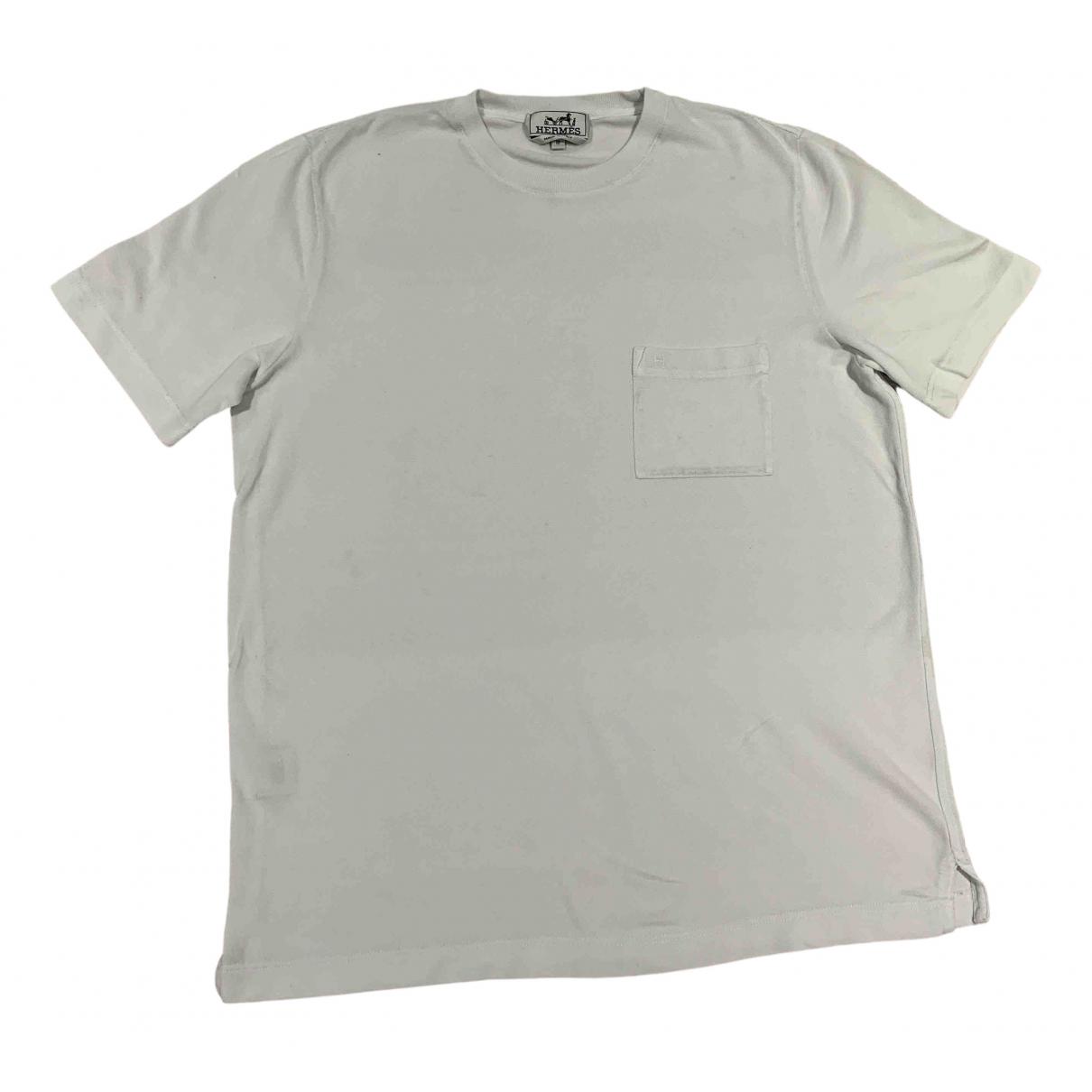 Hermes \N T-Shirts in  Weiss Baumwolle