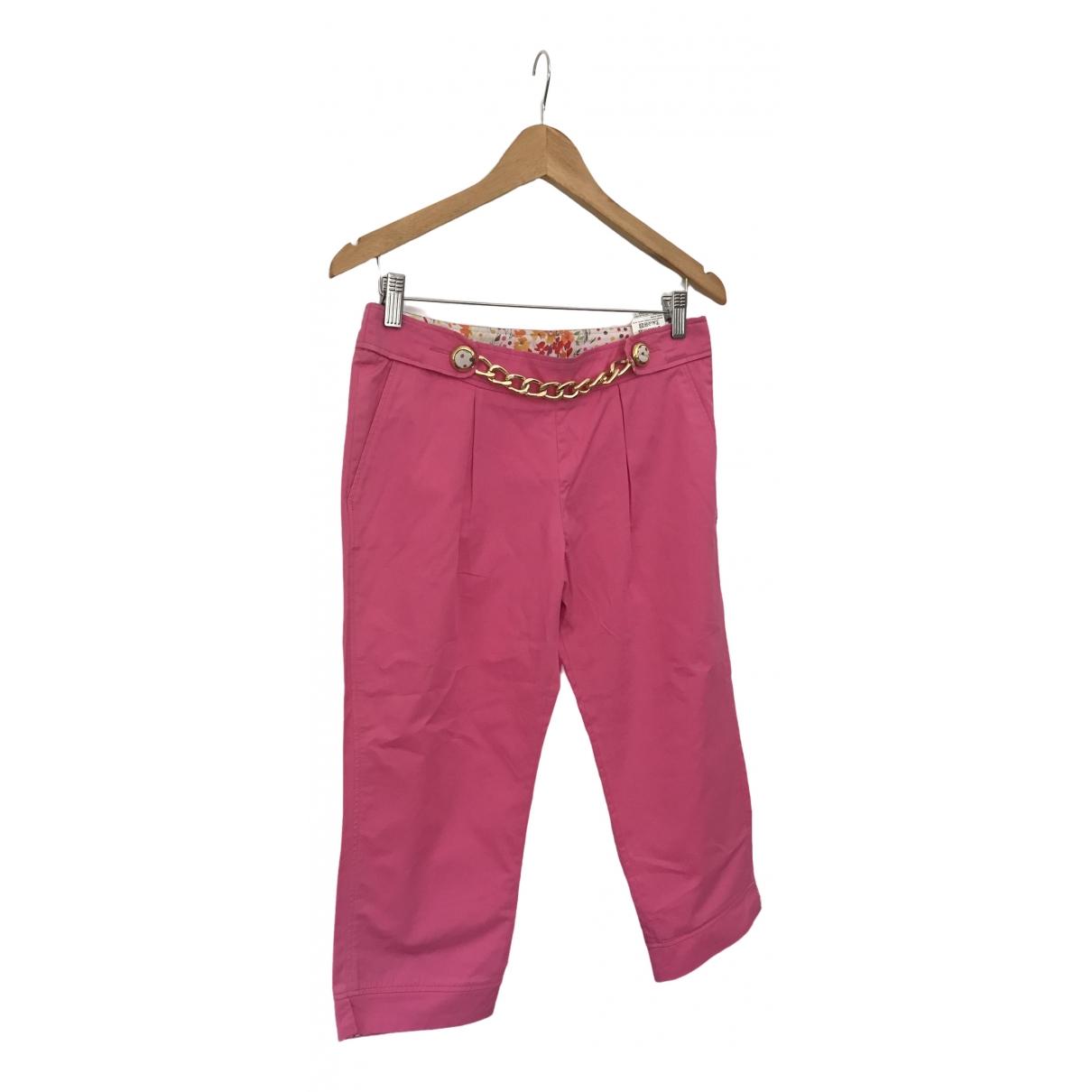 Pantalon en Algodon Rosa D&g