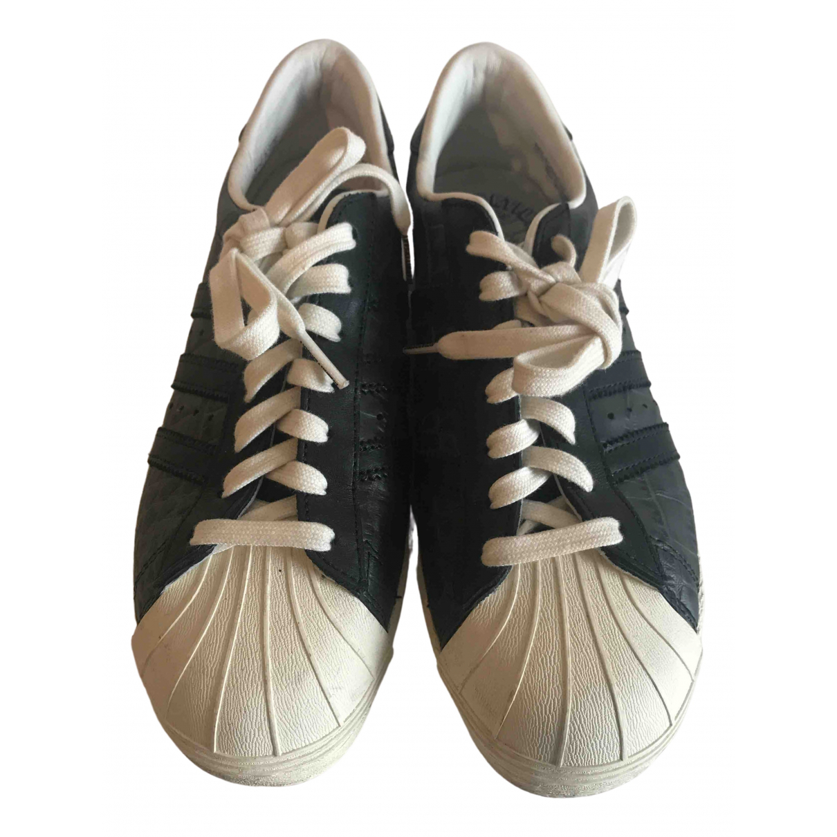 Adidas Superstar Grey Leather Trainers for Women 37 EU