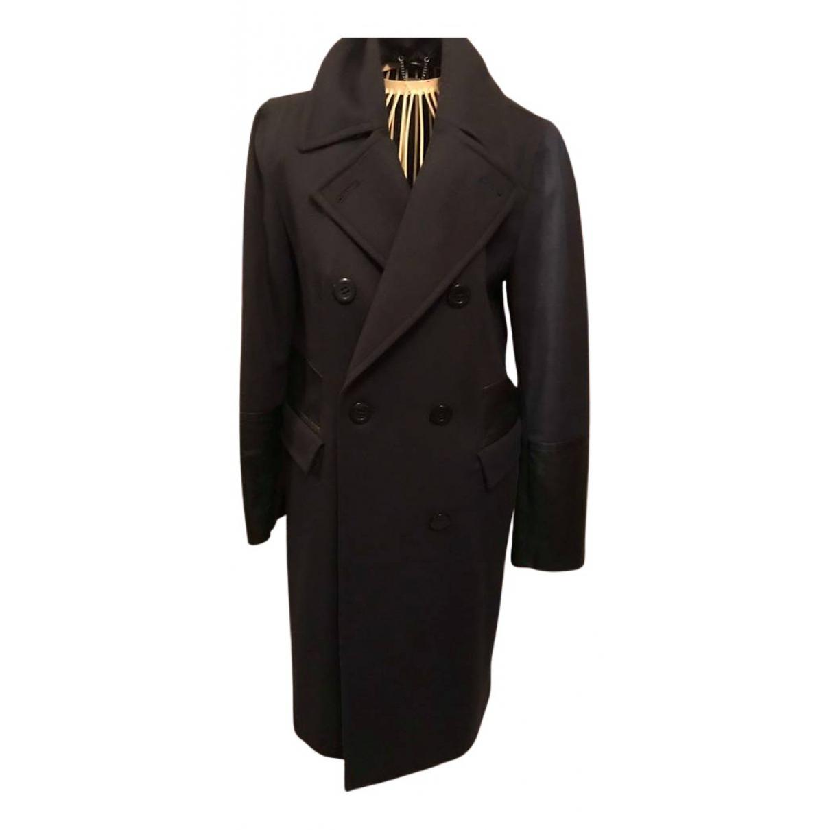 Dkny - Manteau   pour femme en laine - marine