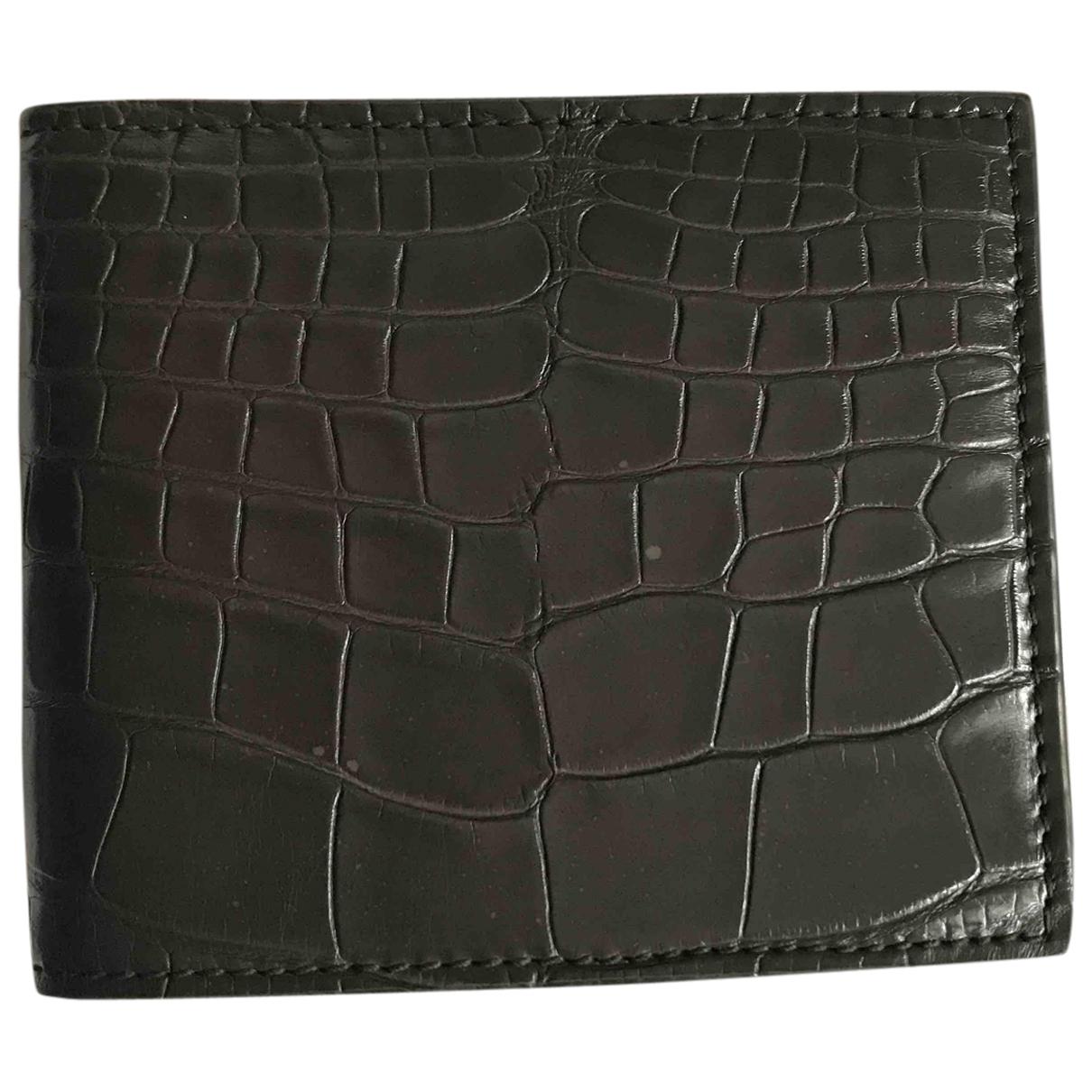 Gucci - Petite maroquinerie   pour homme en crocodile - marron