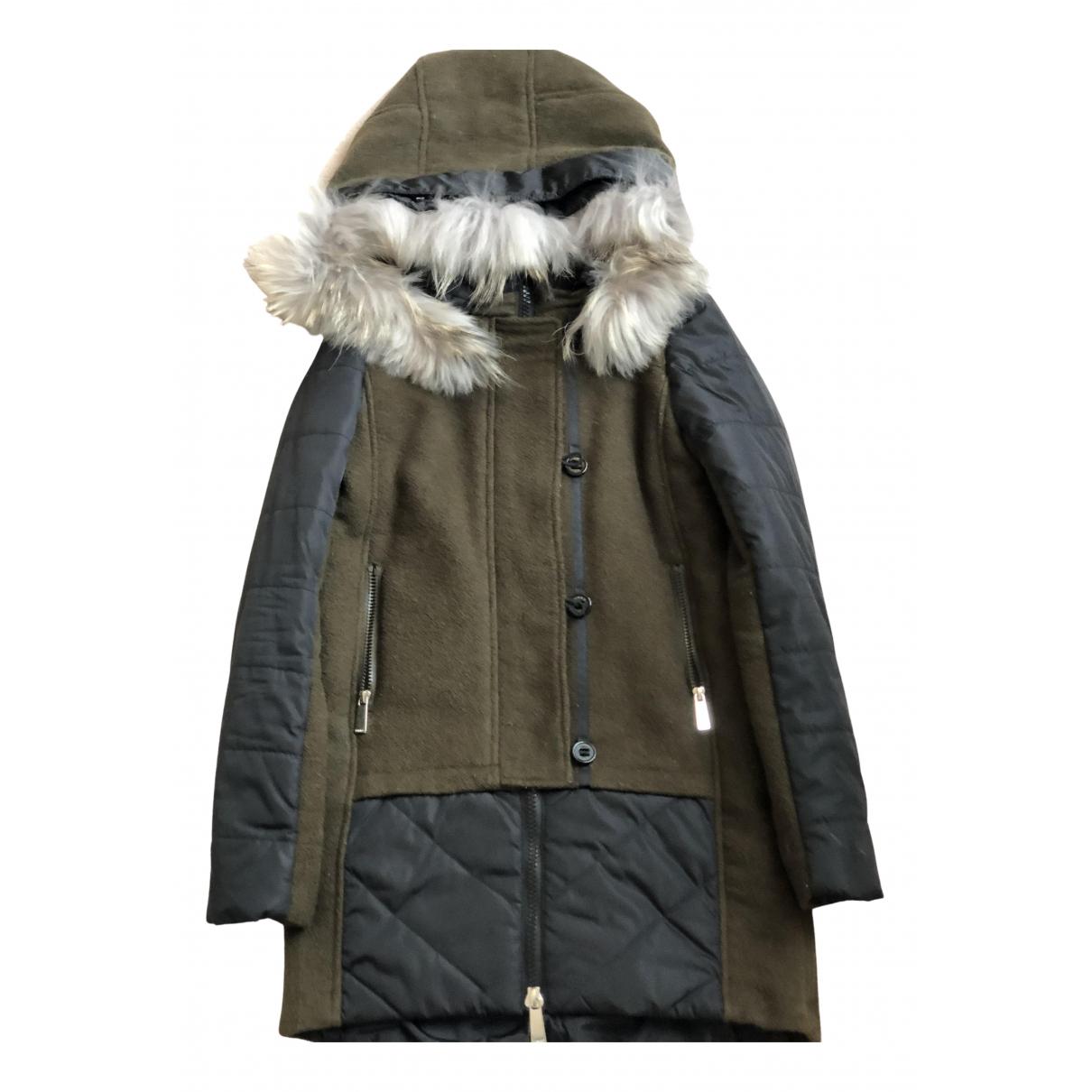 Pinko - Manteau   pour femme en laine - kaki