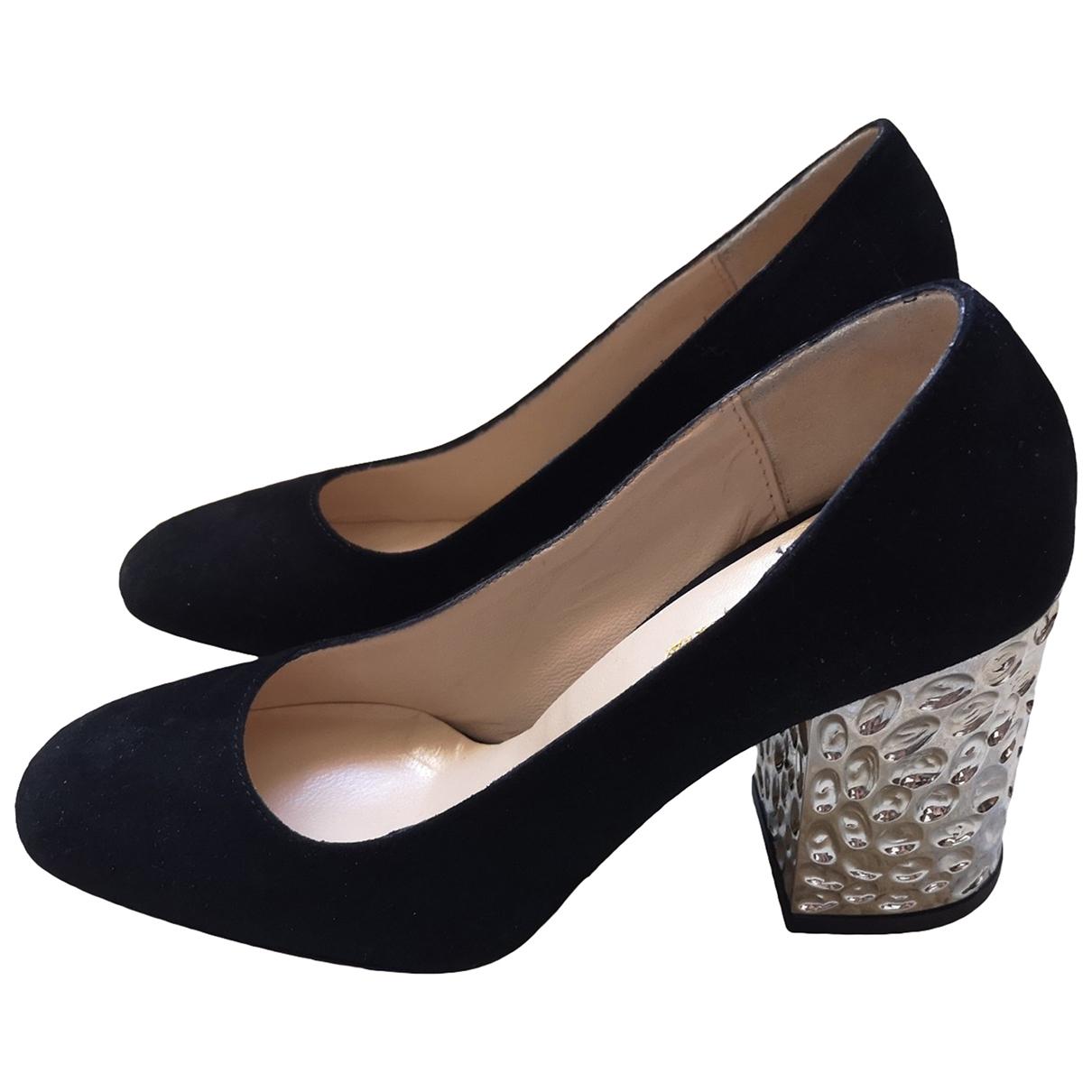 Autre Marque \N Black Suede Heels for Women 37 IT