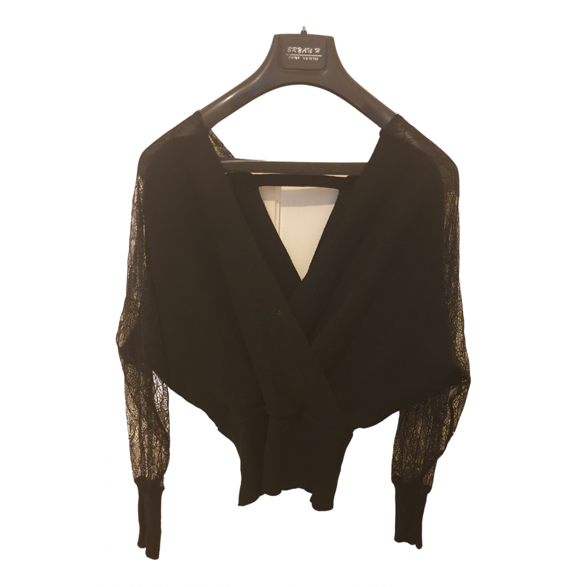 Non Signé / Unsigned N Black Knitwear for Women One Size FR