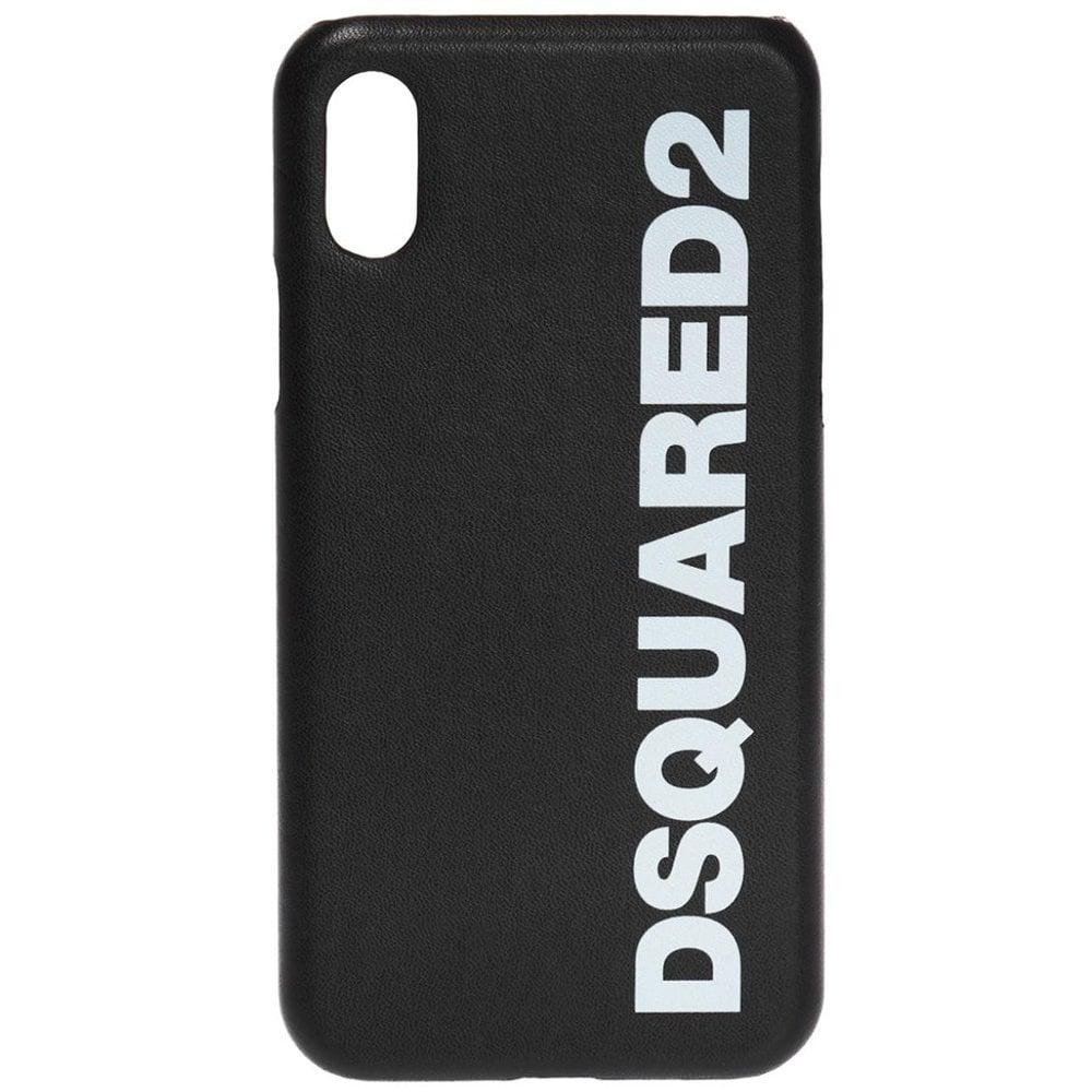 DSquared2 Logo iPhone X Phone Case Colour: BLACK, Size: ONE SIZE