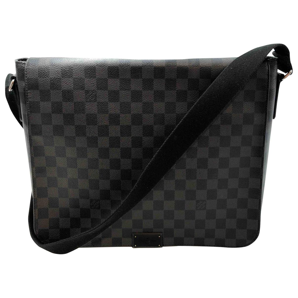 Louis Vuitton - Sac   pour homme en toile - anthracite