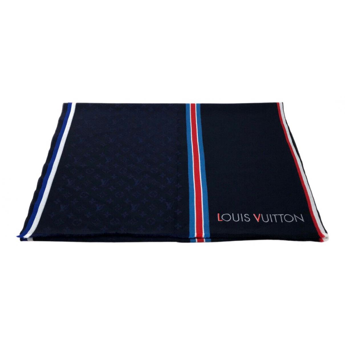 Louis Vuitton N Navy Wool scarf & pocket squares for Men N