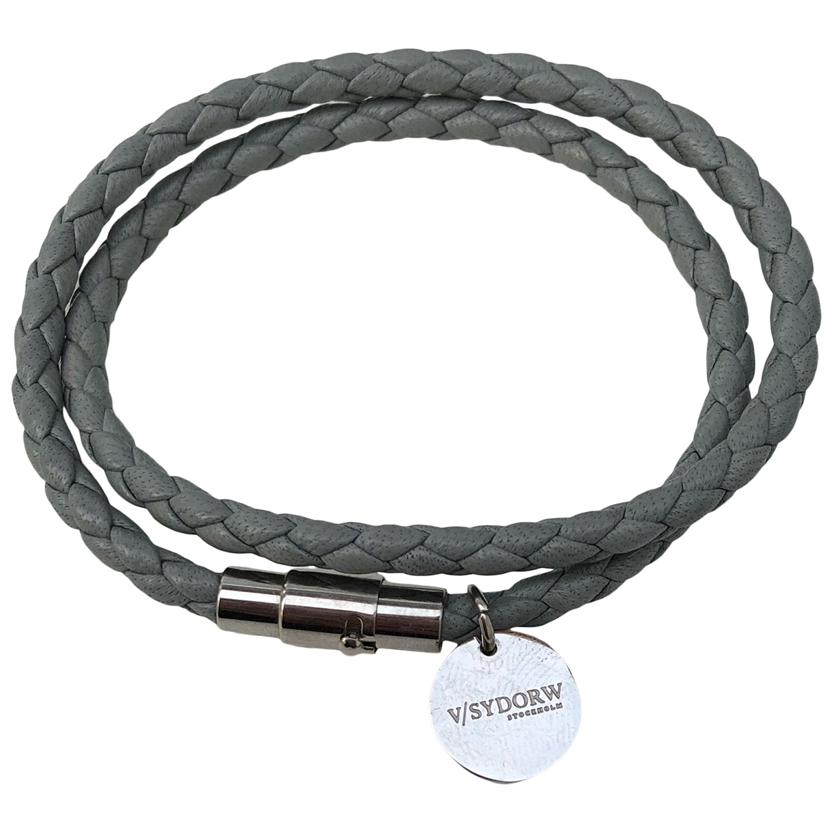 Non Signé / Unsigned \N Grey Leather Jewellery for Men \N