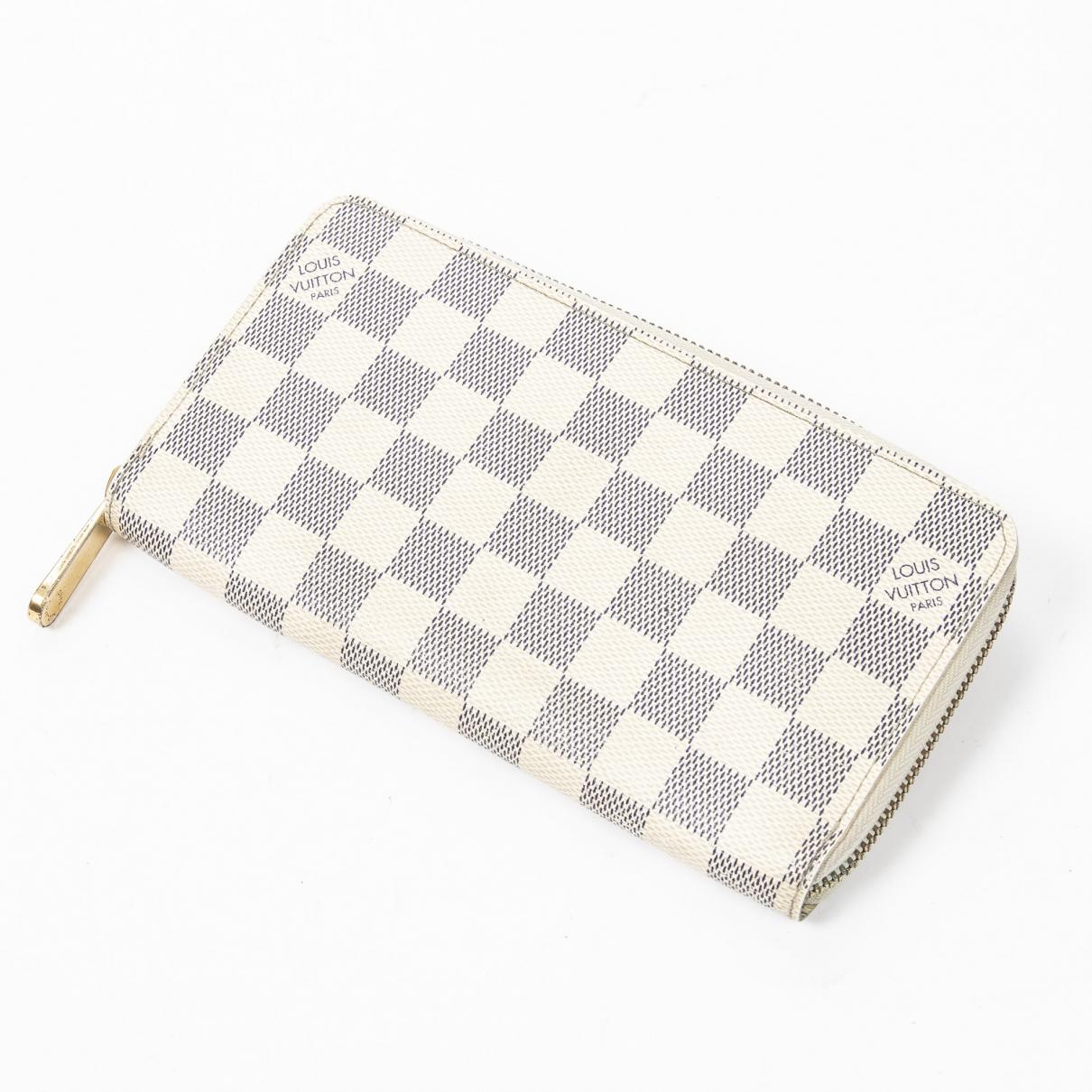 Louis Vuitton Zippy Portemonnaie in  Beige Leder