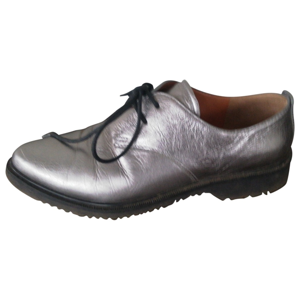 Marc By Marc Jacobs \N Silver Leather Lace ups for Women 40 EU