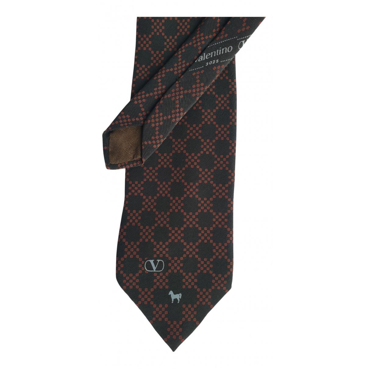 Valentino Garavani - Cravates   pour homme en soie - marron