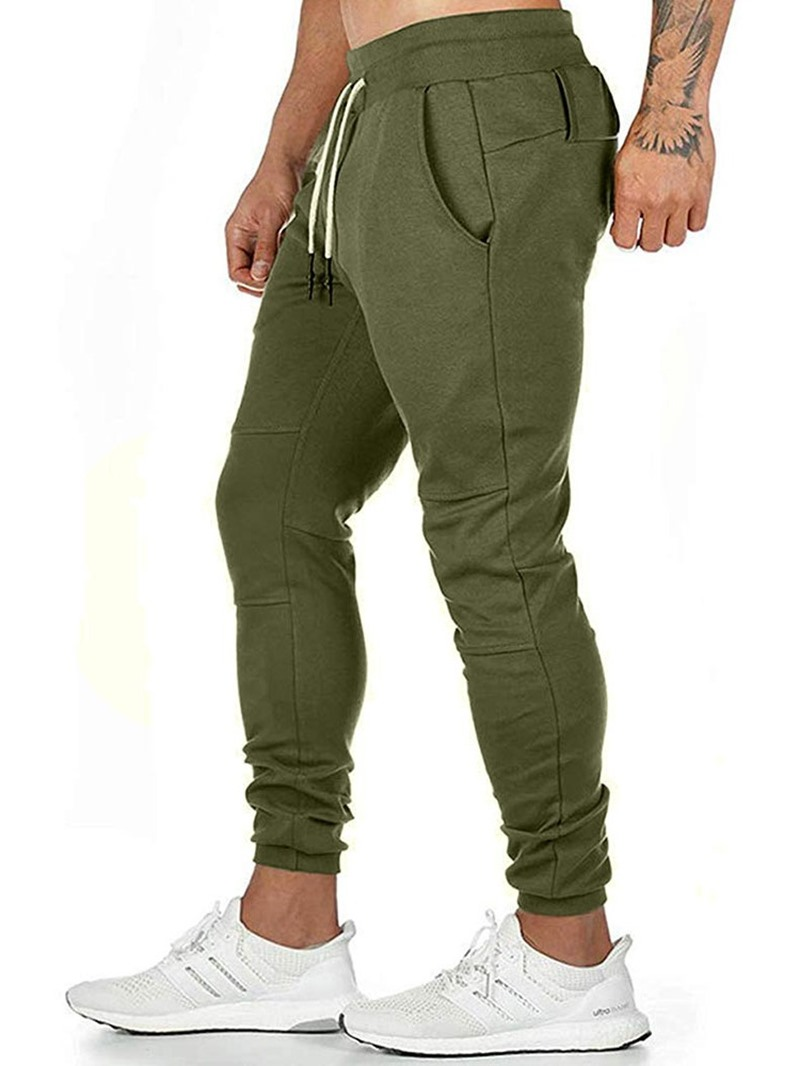Ericdress Plain Lace-Up Casual Pants