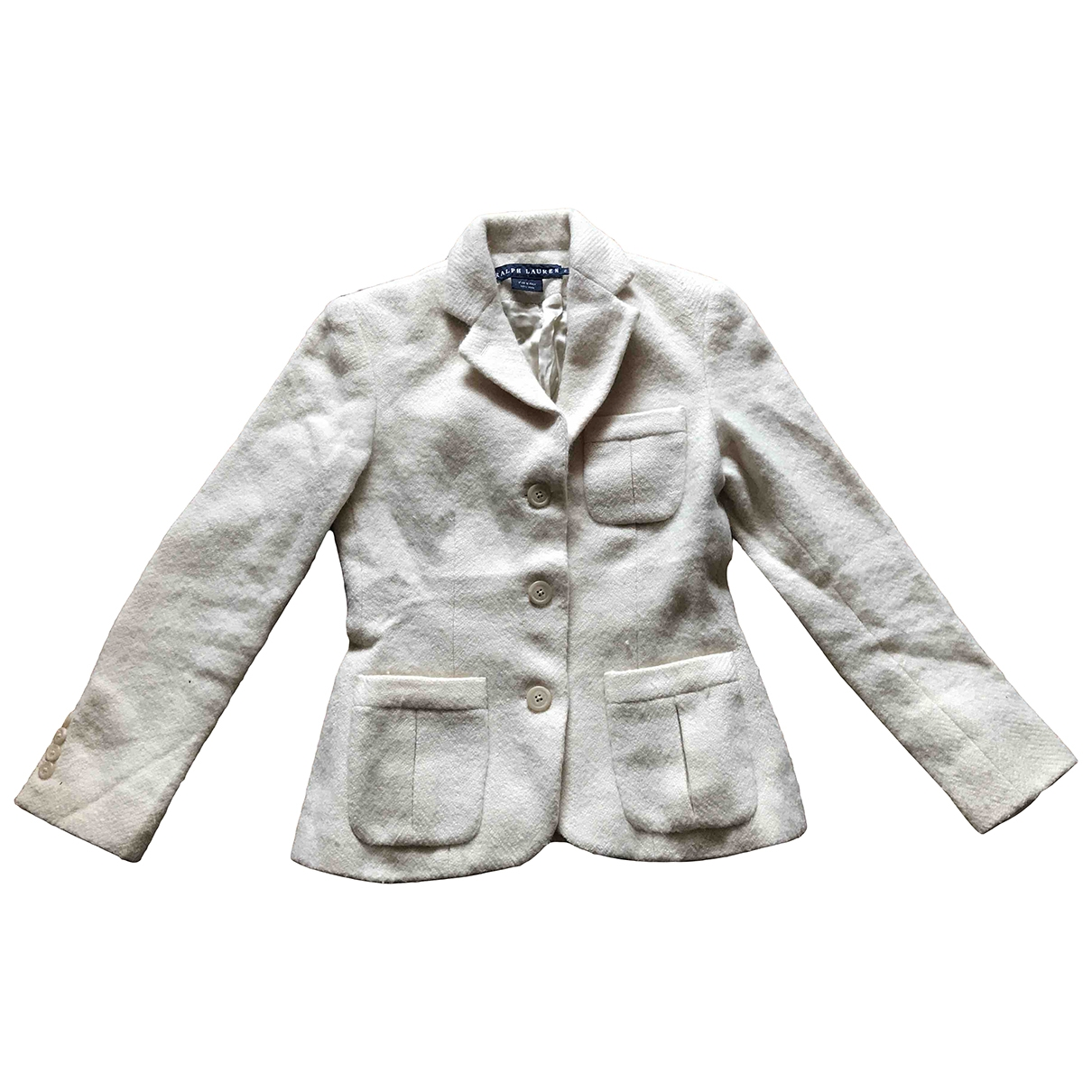 Ralph Lauren - Veste   pour femme en laine - blanc