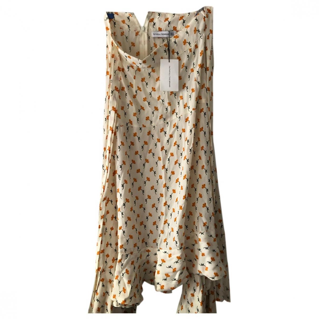 Faithfull The Brand - Jupe   pour femme en soie - beige
