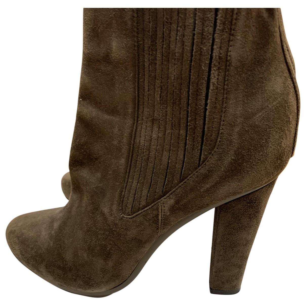 Le Silla - Bottes   pour femme en suede - marron