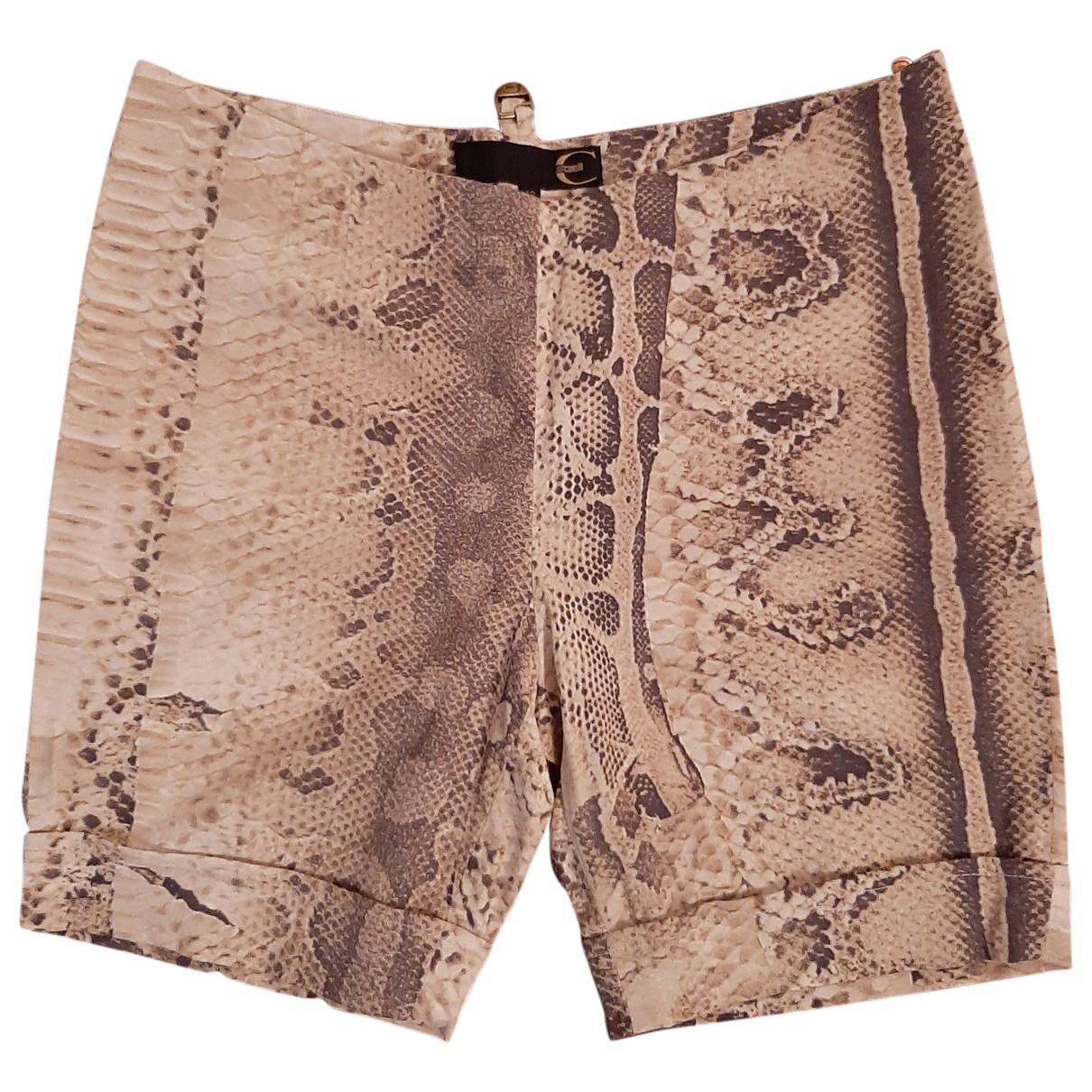 Just Cavalli \N Beige Shorts for Women 46 IT