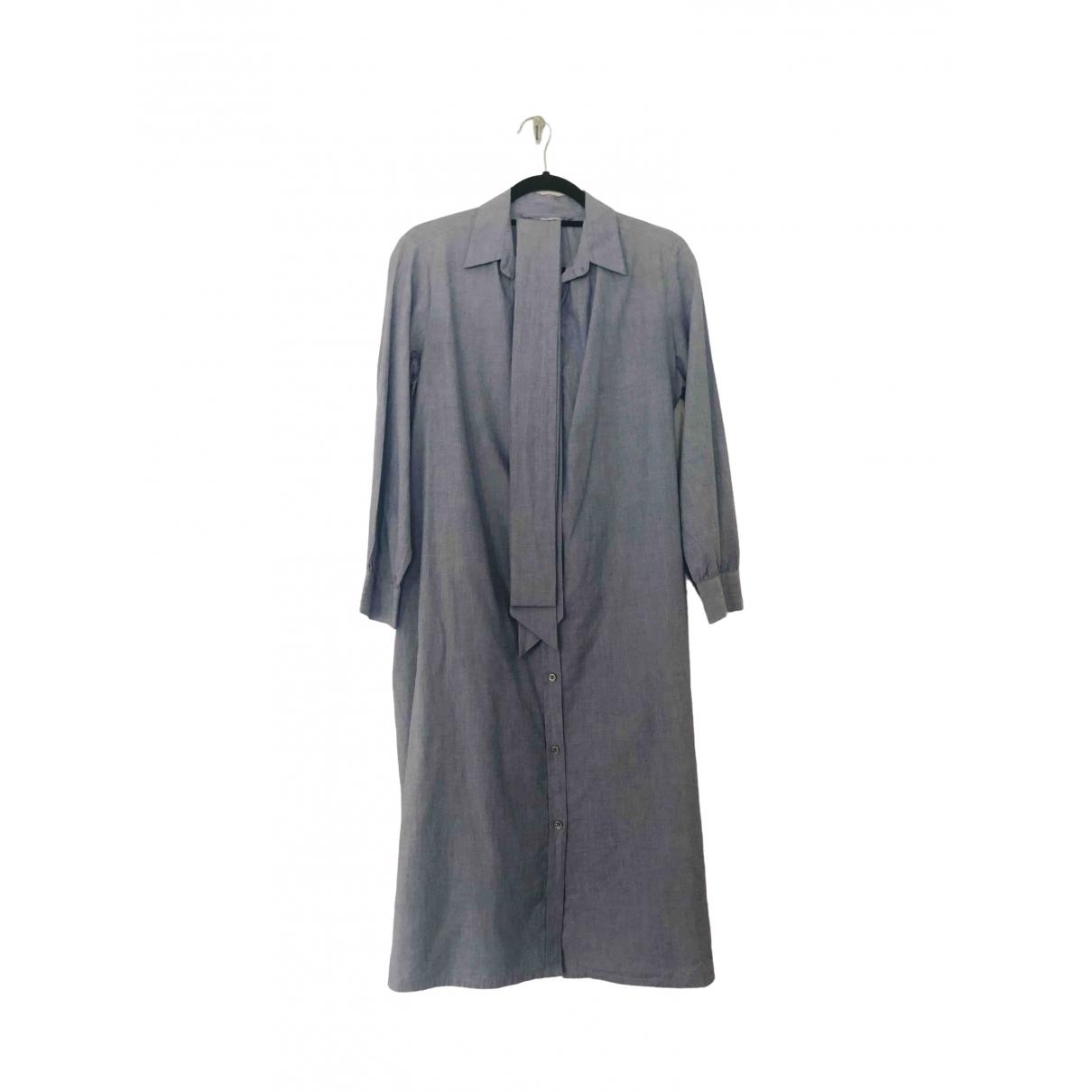Toast \N Kleid in  Blau Baumwolle
