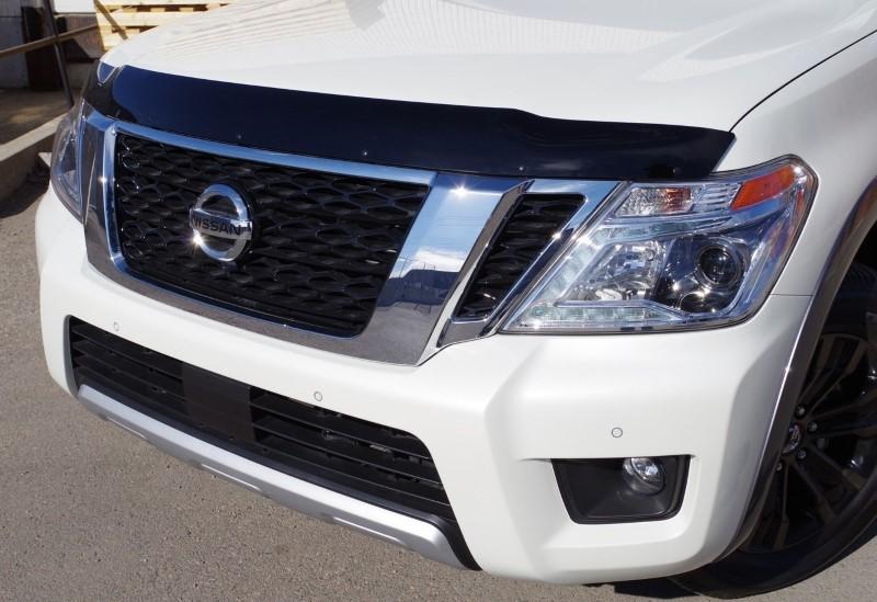 Nissan Hood Deflector 17-19 Armada Acrylic Black FormFit HD13U17