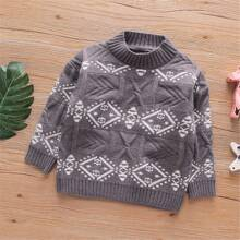 Pullover mit Geometrie Muster