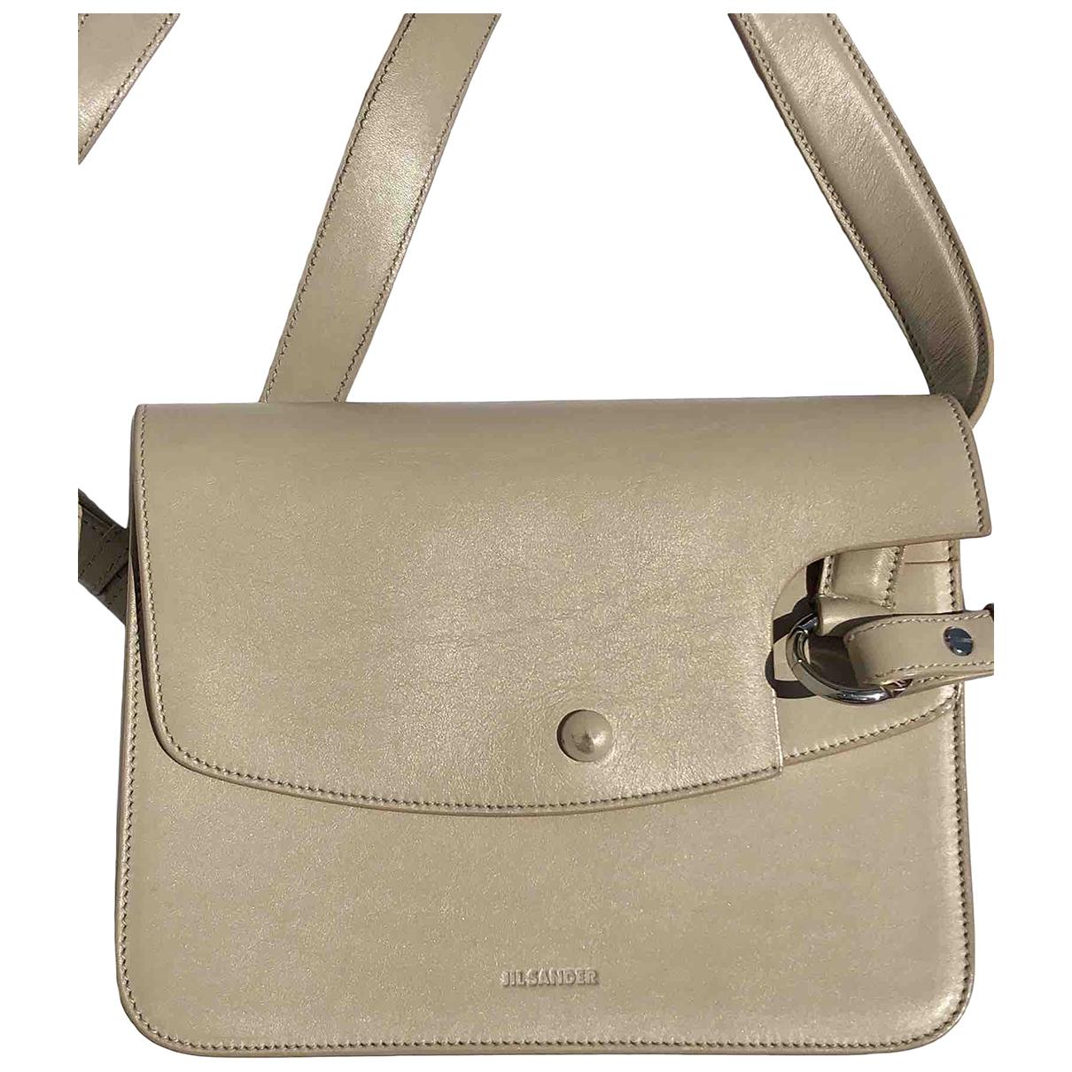 Jil Sander \N Beige Leather handbag for Women \N