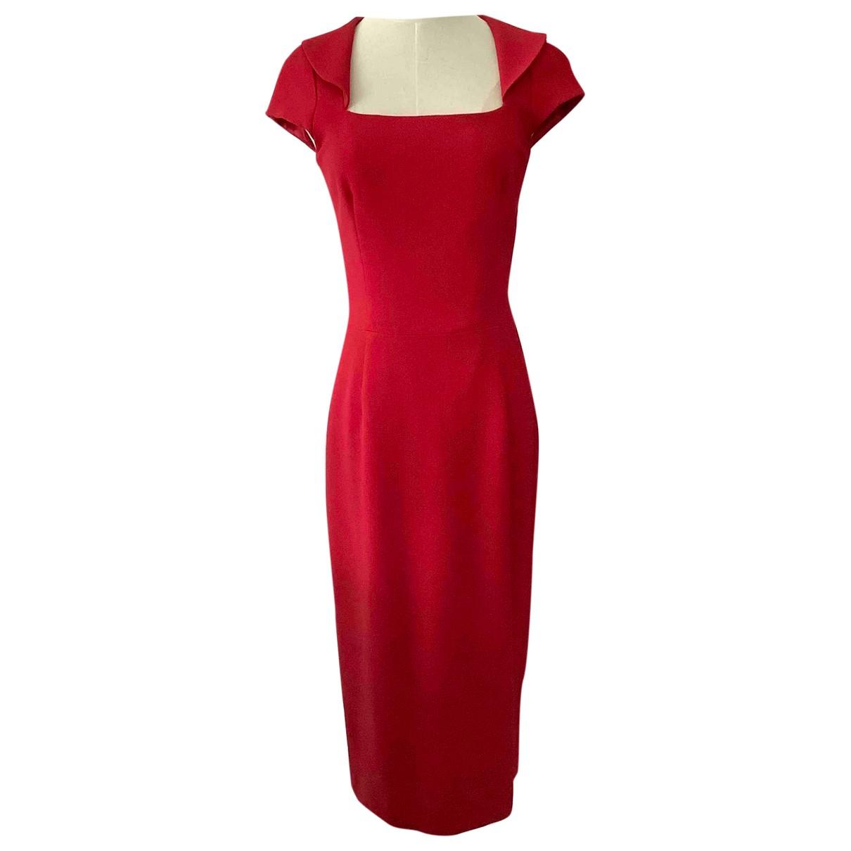 Hobbs \N Kleid in  Rot Wolle