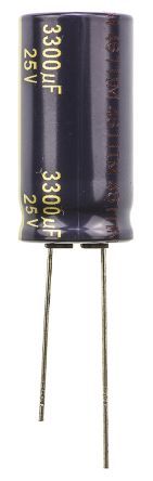 Panasonic 3300μF Electrolytic Capacitor 25V dc, Through Hole - EEUFC1E332 (5)