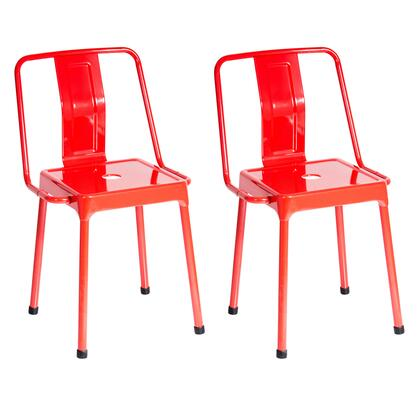CH-CF-ENRG R2 Pair of Industrial Style Energy Chairs in Red