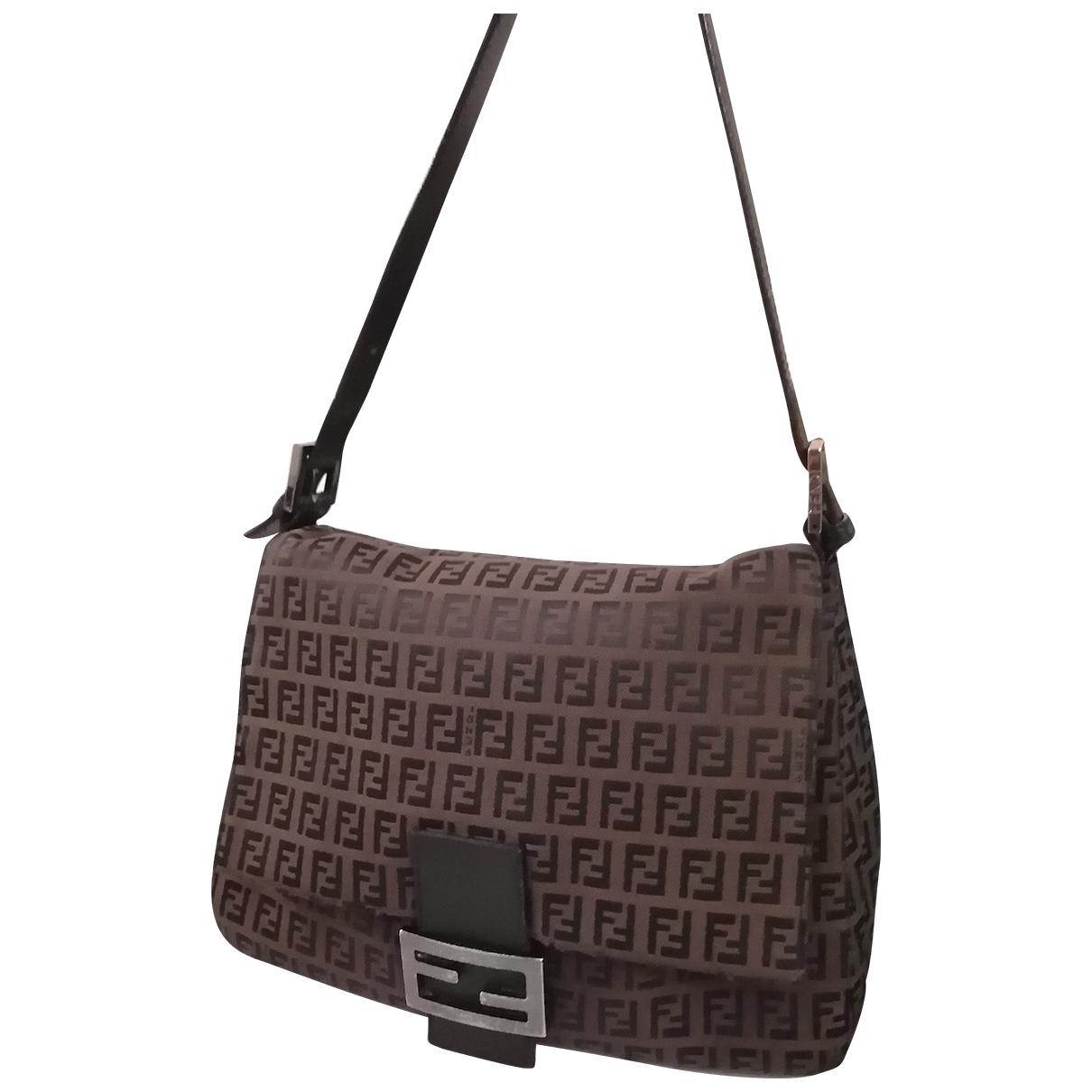 Fendi Mamma Baguette  Brown Cloth handbag for Women \N