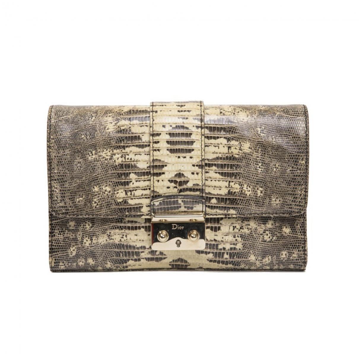 Dior \N Grey Water snake Clutch bag for Women \N