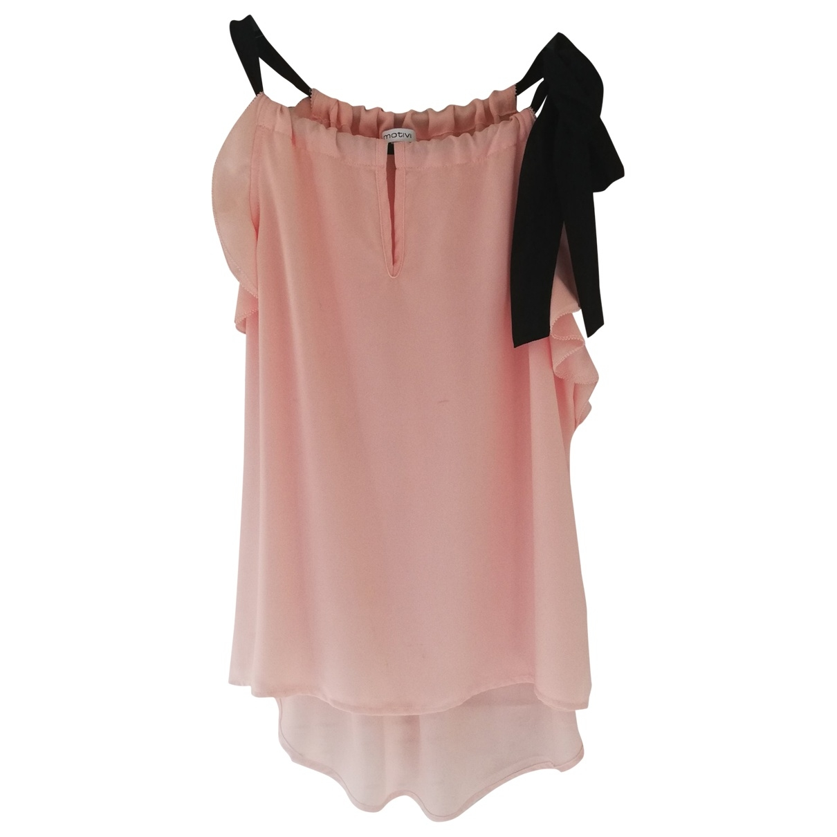 Non Signe / Unsigned \N Top in  Rosa Synthetik