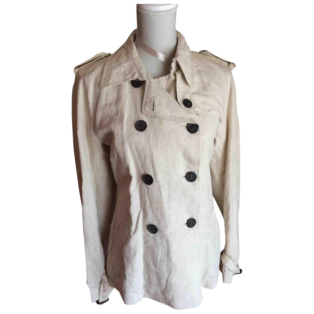 Woolrich - Veste   pour femme en lin - beige