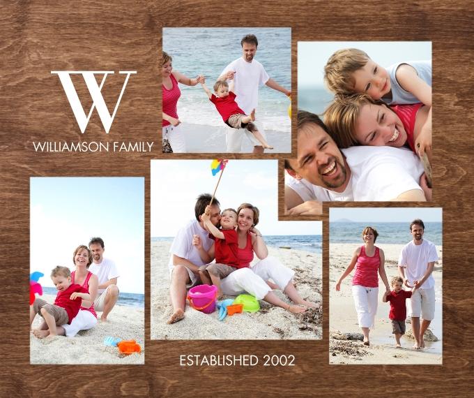 Everyday Plush Fleece Photo Blanket, 50x60, Gift -Blanket Classic Monogram Collage by Tumbalina