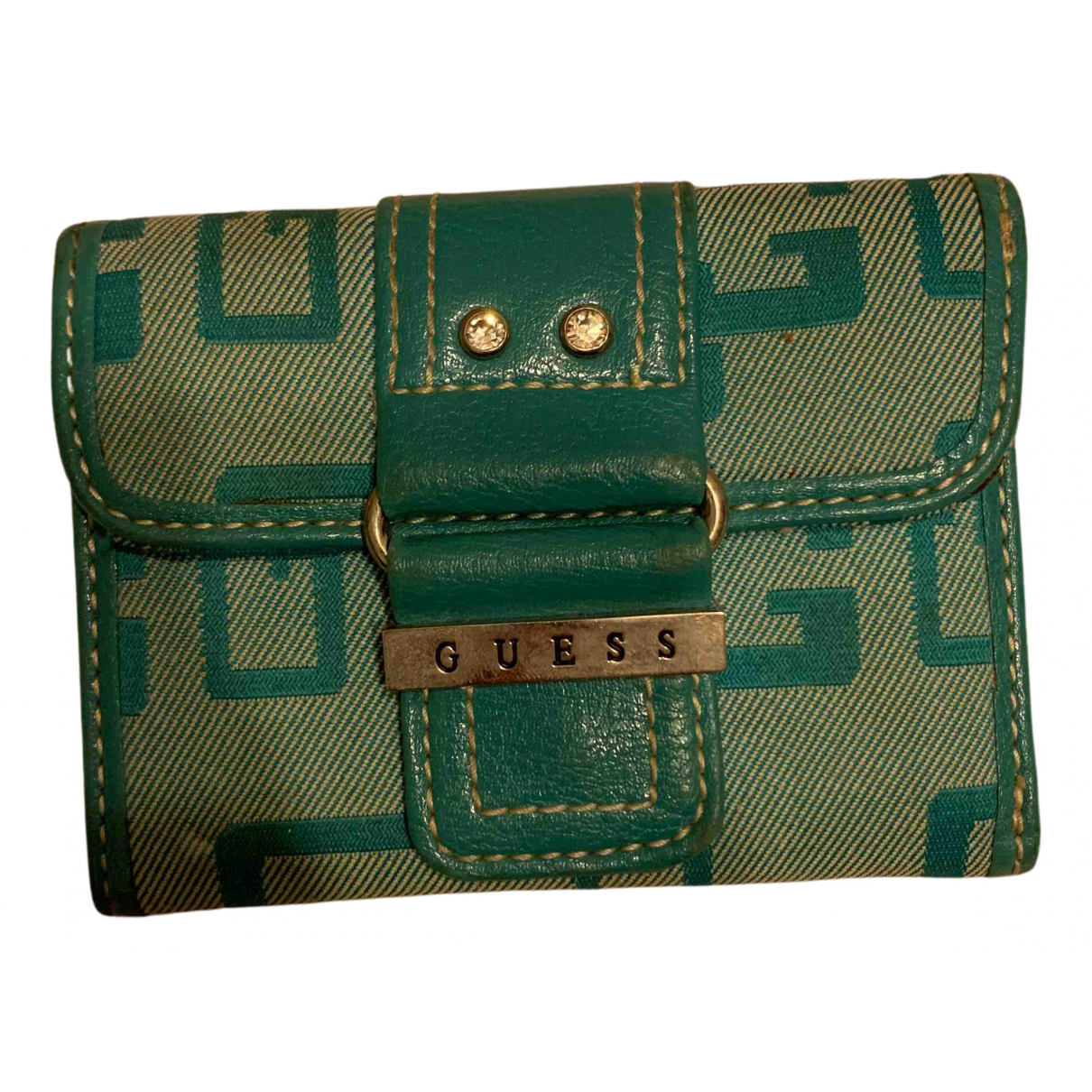 Guess N Turquoise Cloth wallet for Women N