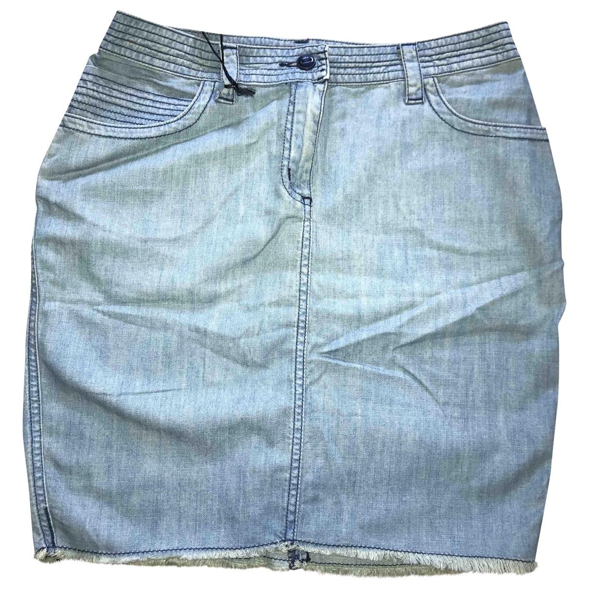 Zadig & Voltaire \N Blue Cotton skirt for Women 34 FR