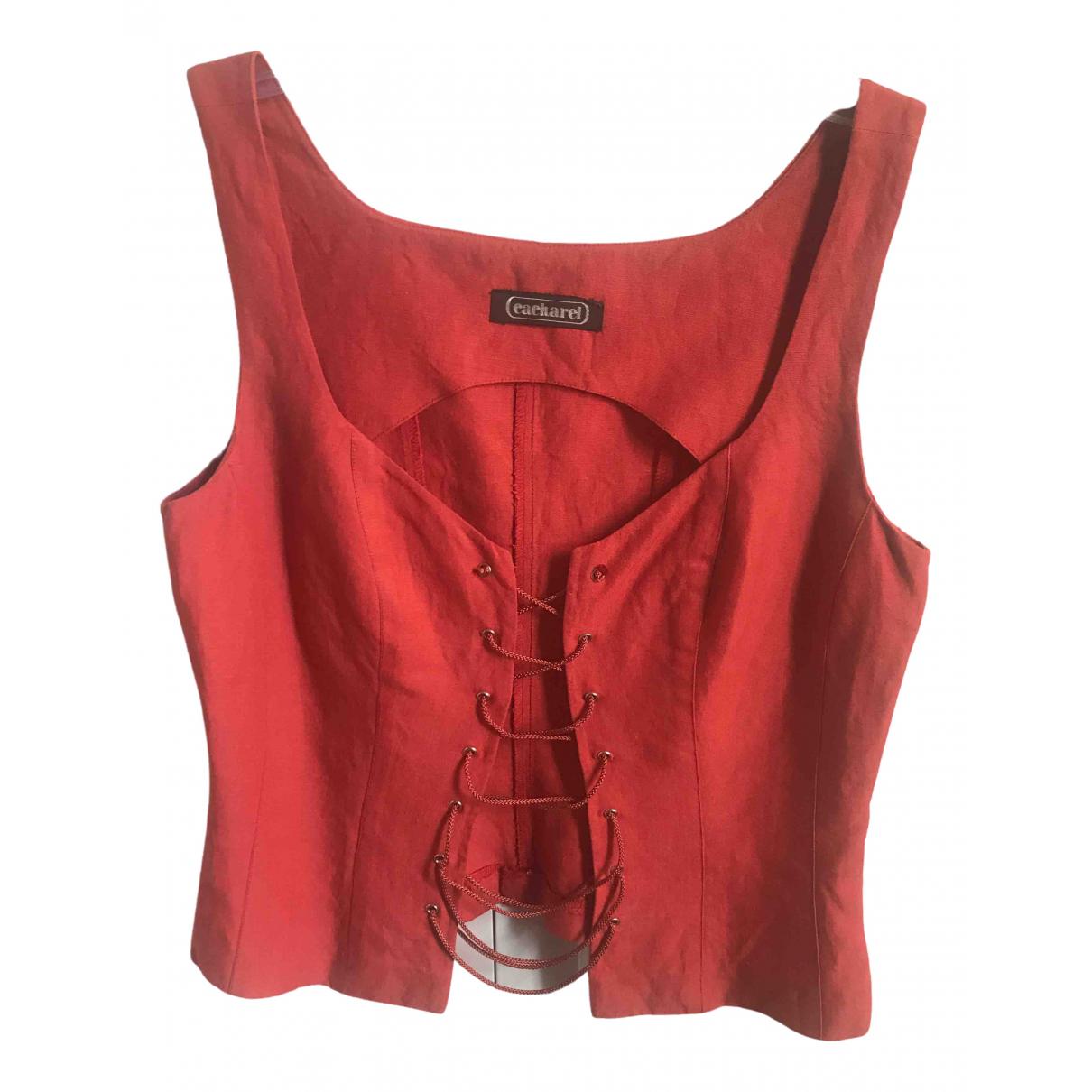 Cacharel - Top   pour femme en lin - orange