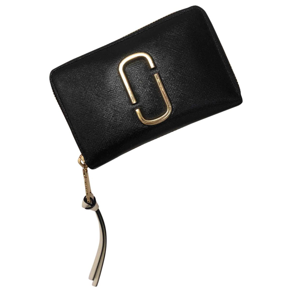 Marc Jacobs - Portefeuille Snapshot pour femme en cuir - noir