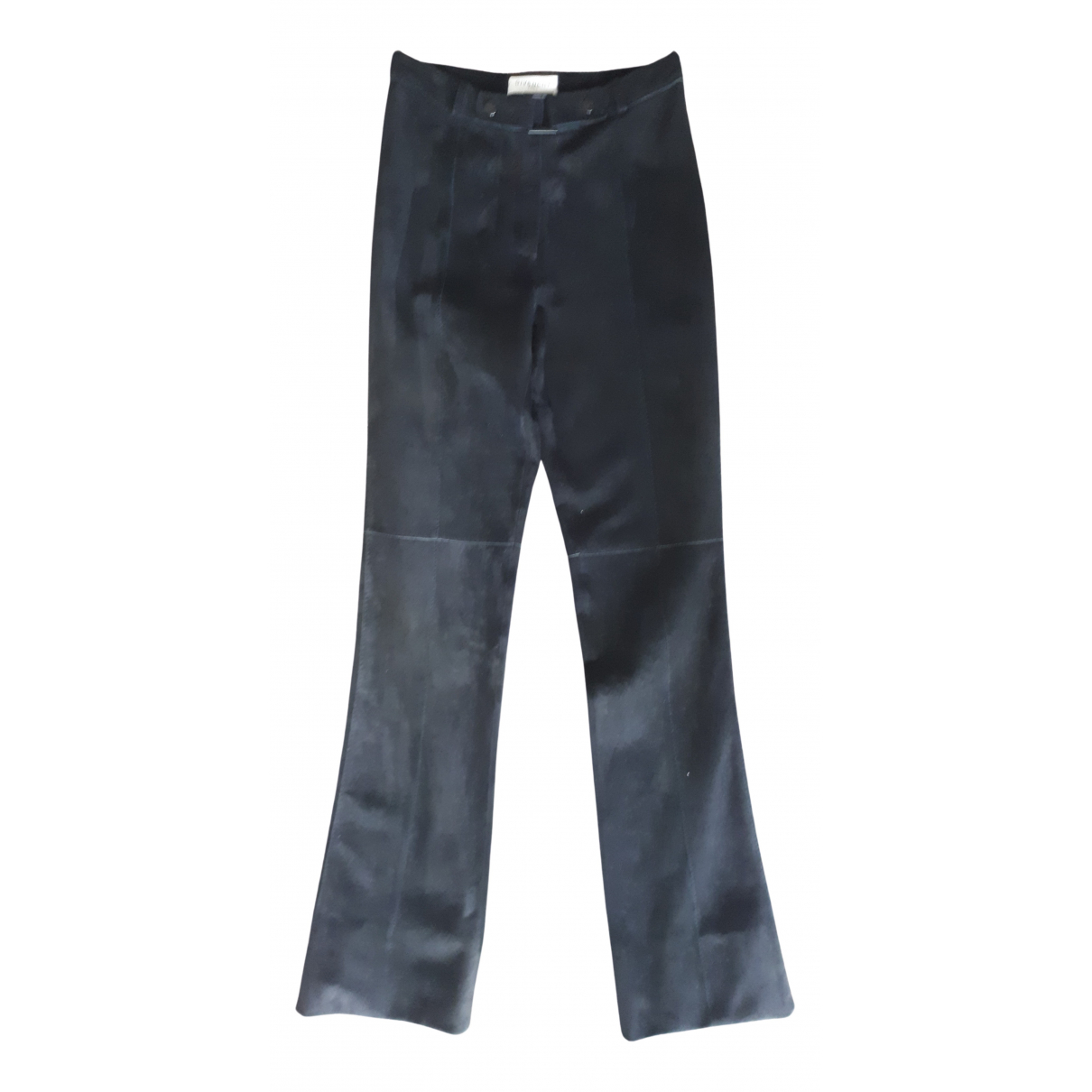 Givenchy N Black Leather Trousers for Women 36 FR