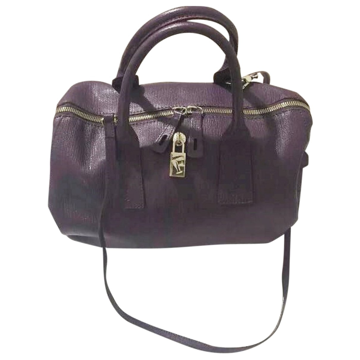 Furla - Sac a main   pour femme en cuir - violet