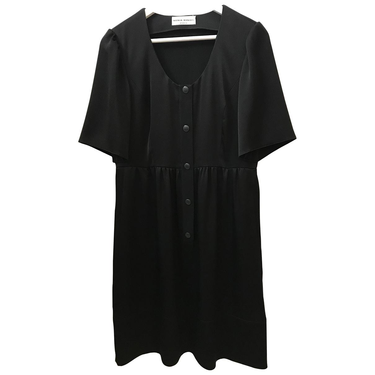 Sonia Rykiel \N Black Silk dress for Women 42 IT