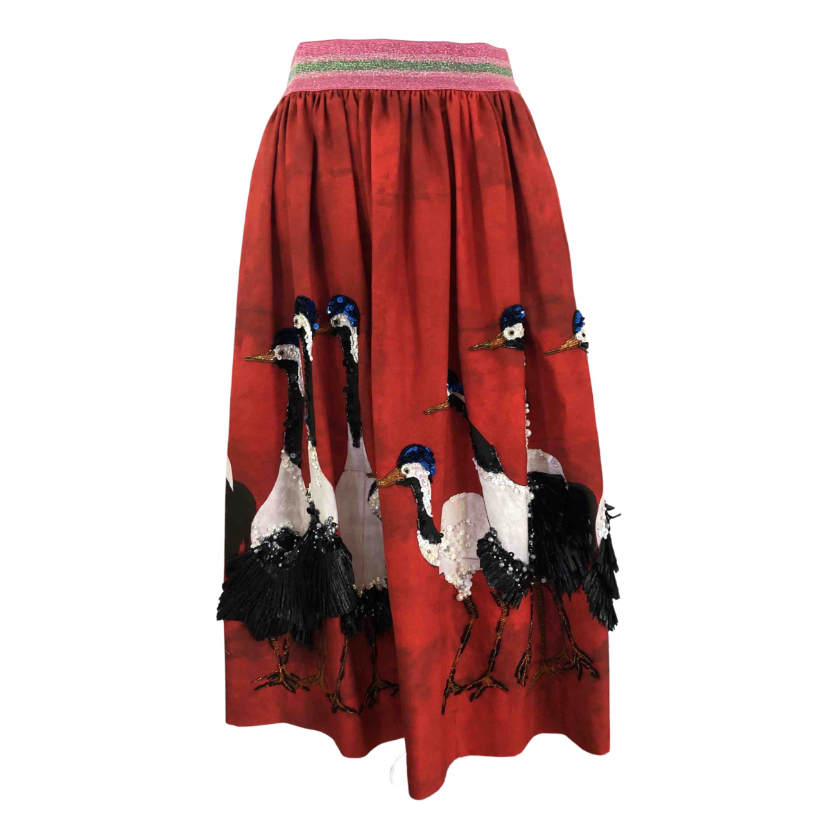 Stella Jean \N Rocke in  Rot Baumwolle