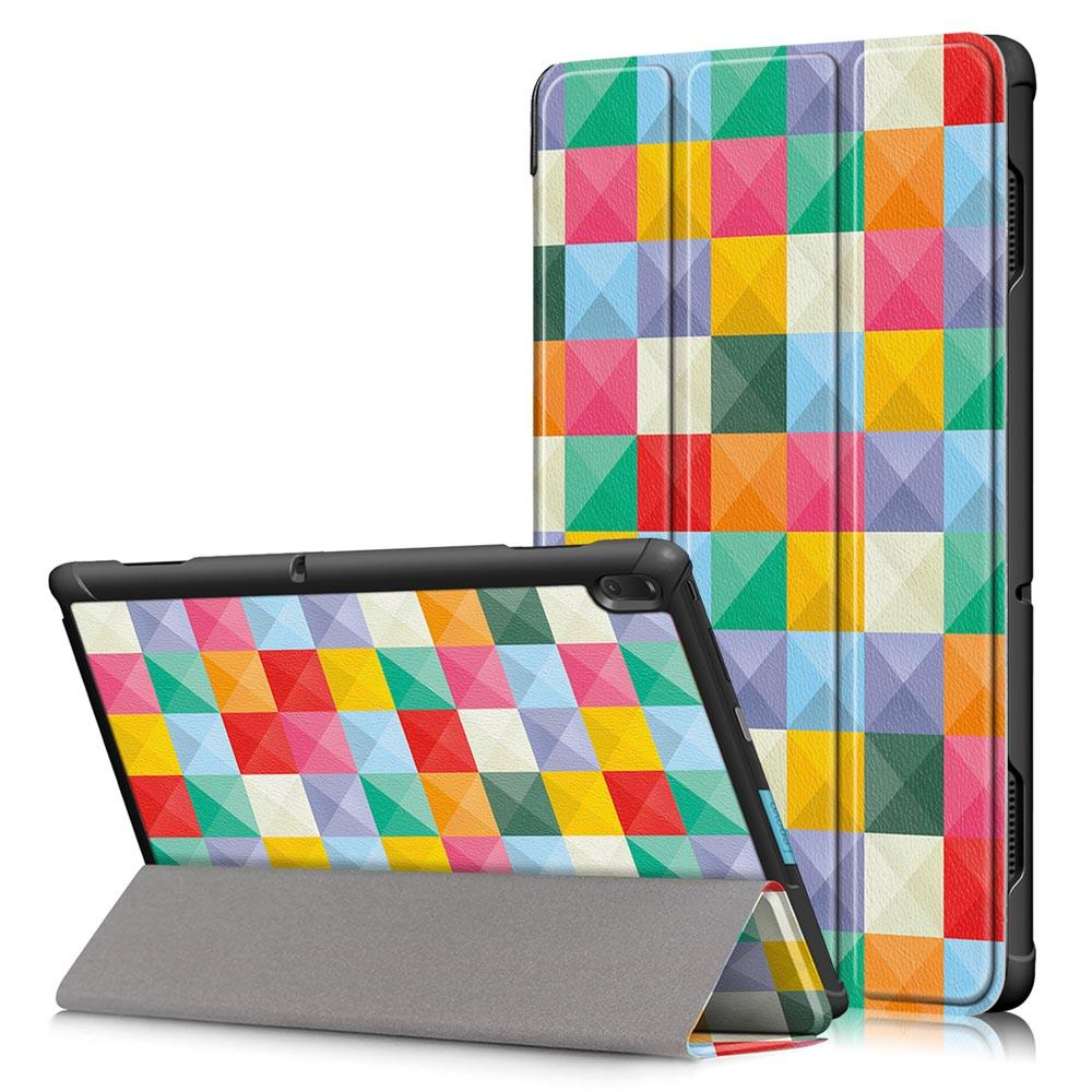 Tri-Fold Printing Tablet Case Cover for Lenovo Tab E10 Tablet - Cubicity