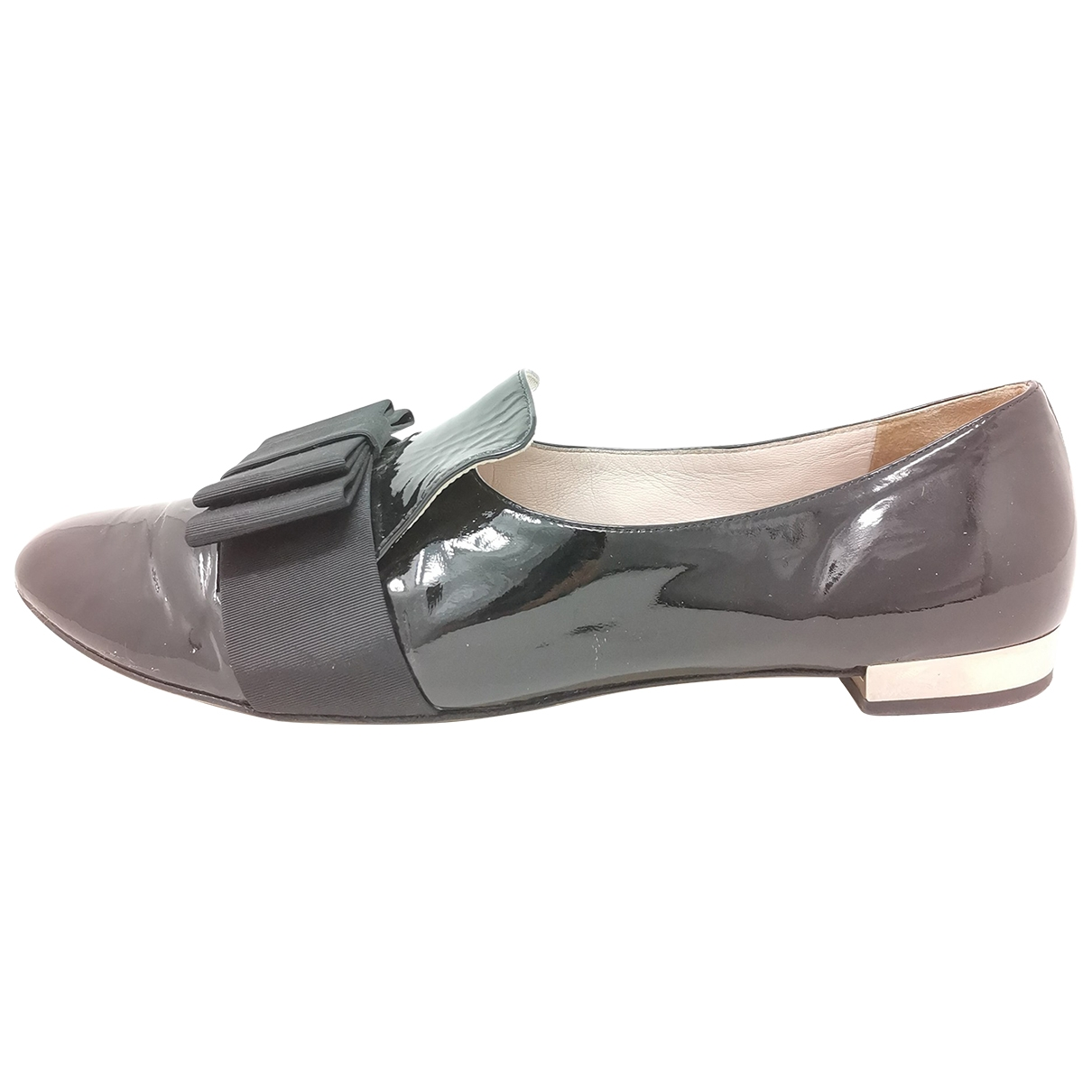 Miu Miu \N Black Patent leather Flats for Women 41 EU