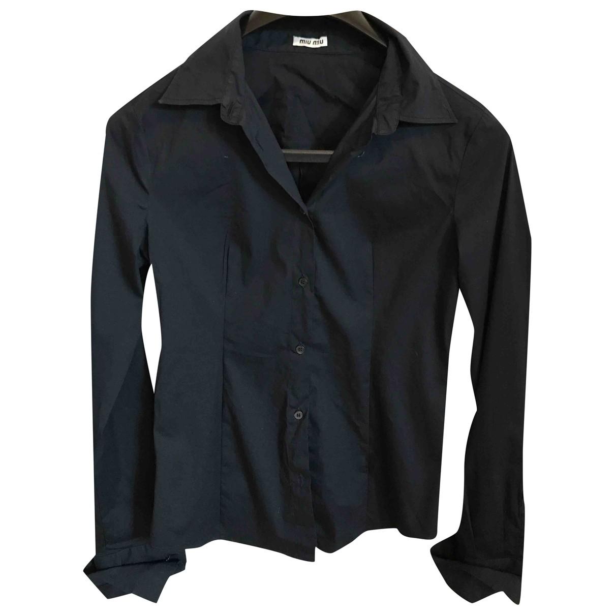 Miu Miu N Black Cotton  top for Women 40 IT