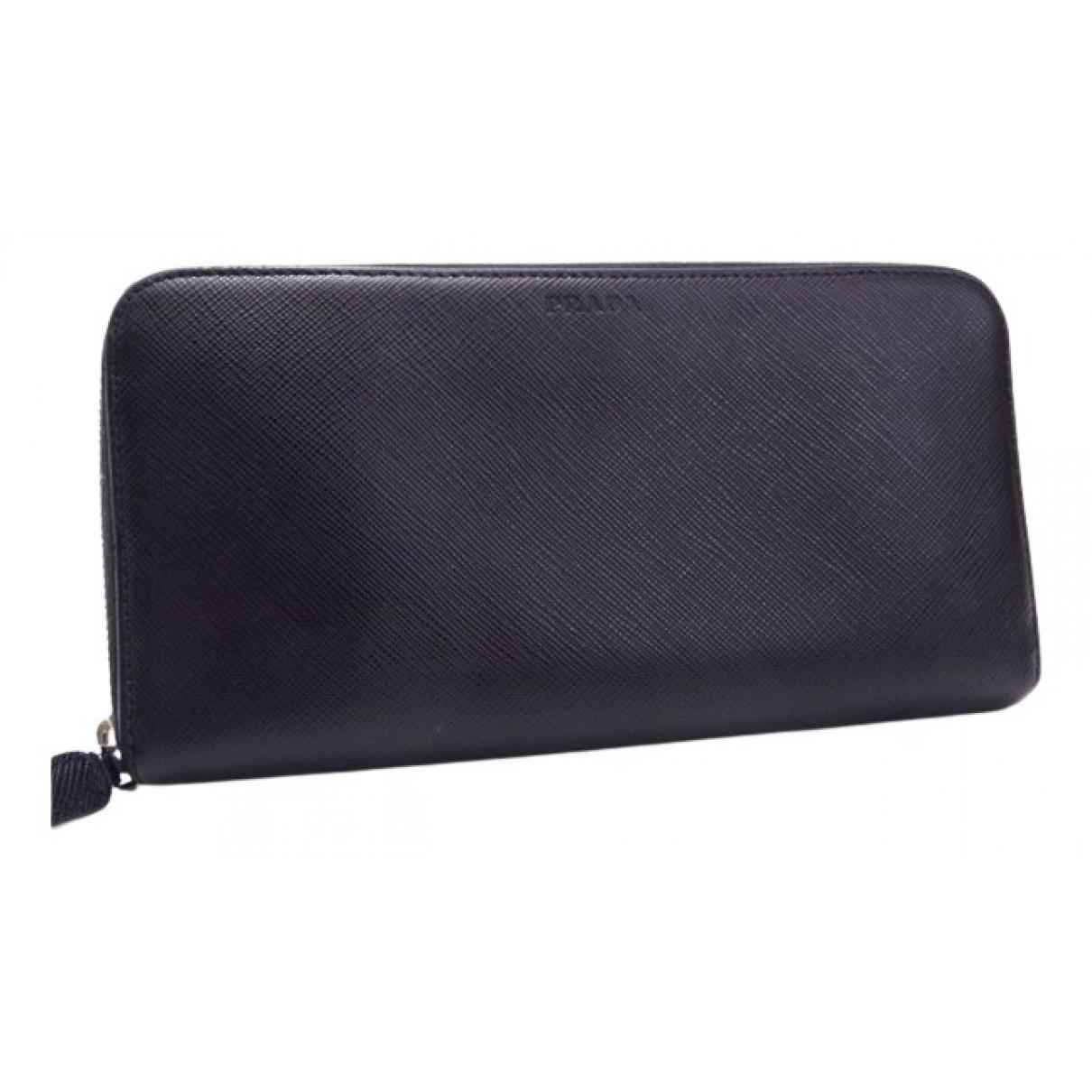 Prada N Black Leather wallet for Women N